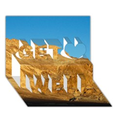 Death Valley Get Well 3d Greeting Card (7x5)  by trendistuff