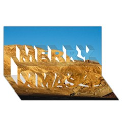 Death Valley Merry Xmas 3d Greeting Card (8x4)  by trendistuff
