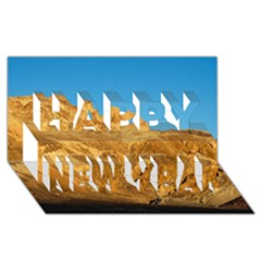 Death Valley Happy New Year 3d Greeting Card (8x4)  by trendistuff