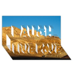 Death Valley Laugh Live Love 3d Greeting Card (8x4)  by trendistuff