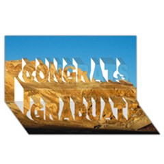 Death Valley Congrats Graduate 3d Greeting Card (8x4)  by trendistuff