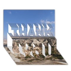 Cappadocia 3 Thank You 3d Greeting Card (7x5)  by trendistuff