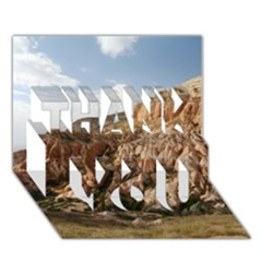 Cappadocia 2 Thank You 3d Greeting Card (7x5)  by trendistuff
