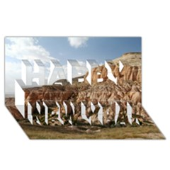 Cappadocia 2 Happy New Year 3d Greeting Card (8x4)  by trendistuff