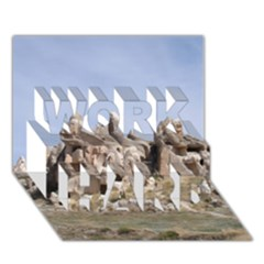 Cappadocia 1 Work Hard 3d Greeting Card (7x5)  by trendistuff