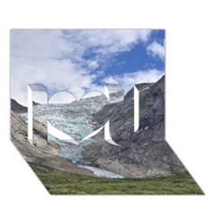 Briksdalsbreen I Love You 3d Greeting Card (7x5)  by trendistuff