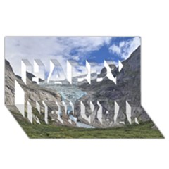 Briksdalsbreen Happy New Year 3d Greeting Card (8x4)  by trendistuff