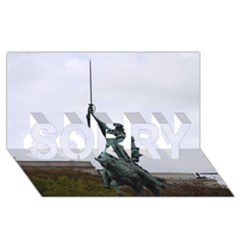 Washington Statue Sorry 3d Greeting Card (8x4)  by trendistuff