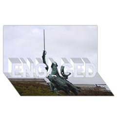 Washington Statue Engaged 3d Greeting Card (8x4)  by trendistuff