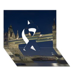 Tower Bridge Ribbon 3d Greeting Card (7x5)