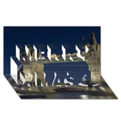 Tower Bridge Merry Xmas 3d Greeting Card (8x4)