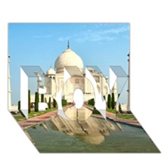 Taj Mahal Boy 3d Greeting Card (7x5) by trendistuff