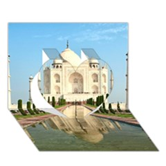 Taj Mahal Heart 3d Greeting Card (7x5)  by trendistuff