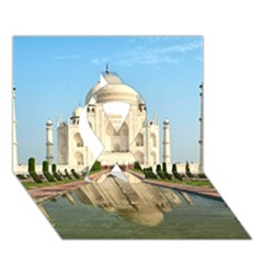 Taj Mahal Ribbon 3d Greeting Card (7x5)  by trendistuff