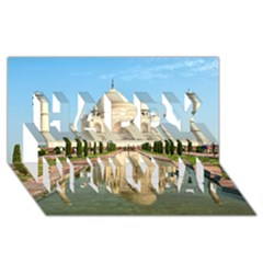 Taj Mahal Happy New Year 3d Greeting Card (8x4)  by trendistuff
