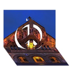 Stanford Chruch Peace Sign 3d Greeting Card (7x5)  by trendistuff