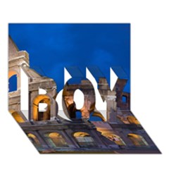 Rome Colosseum 2 Boy 3d Greeting Card (7x5) by trendistuff