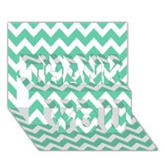 Chevron Pattern Gifts Thank You 3d Greeting Card (7x5)  by creativemom