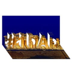 Parthenon 2 #1 Dad 3d Greeting Card (8x4)  by trendistuff