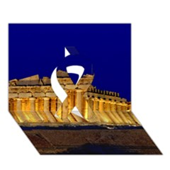 Parthenon 2 Ribbon 3d Greeting Card (7x5)  by trendistuff