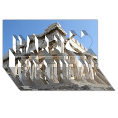 Parthenon Happy Birthday 3d Greeting Card (8x4)  by trendistuff