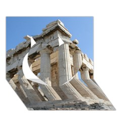 Parthenon Heart 3d Greeting Card (7x5)  by trendistuff