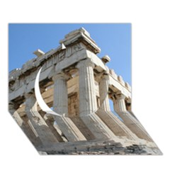 Parthenon Circle 3d Greeting Card (7x5)  by trendistuff