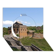 Great Wall Of China 3 Circle 3d Greeting Card (7x5)  by trendistuff
