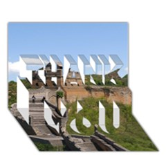 Great Wall Of China 3 Thank You 3d Greeting Card (7x5)  by trendistuff