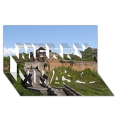 Great Wall Of China 3 Merry Xmas 3d Greeting Card (8x4)  by trendistuff