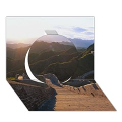 Great Wall Of China 2 Circle 3d Greeting Card (7x5)  by trendistuff