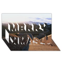 Great Wall Of China 2 Merry Xmas 3d Greeting Card (8x4)  by trendistuff