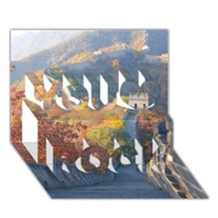 Great Wall Of China 1 You Rock 3d Greeting Card (7x5)
