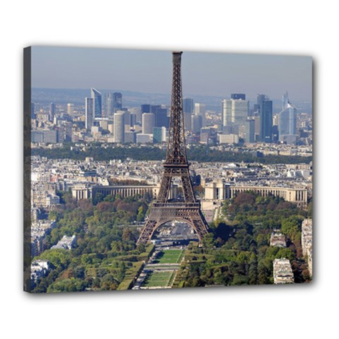 Eiffel Tower 2 Canvas 20  X 16  by trendistuff