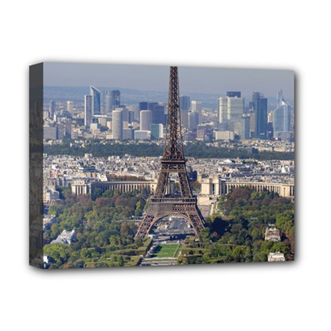Eiffel Tower 2 Deluxe Canvas 16  X 12   by trendistuff