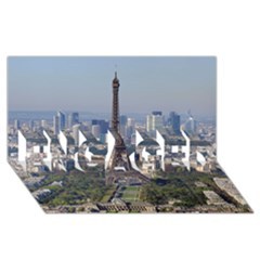 Eiffel Tower 2 Engaged 3d Greeting Card (8x4)  by trendistuff