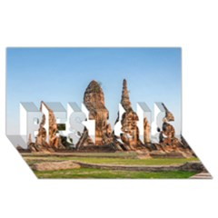 Chaiwatthanaram Best Sis 3d Greeting Card (8x4)  by trendistuff