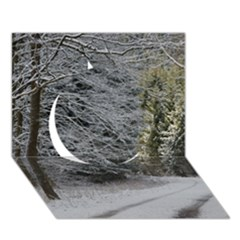 Snow On Road Circle 3d Greeting Card (7x5)  by trendistuff