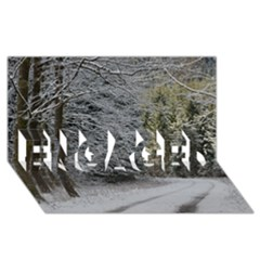 Snow On Road Engaged 3d Greeting Card (8x4)