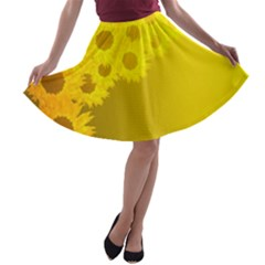 Sunflower A Line Skater Skirt