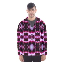White Burgundy Flower Abstract Hooded Wind Breaker (men) by Costasonlineshop