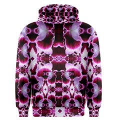White Burgundy Flower Abstract Men s Pullover Hoodies by Costasonlineshop