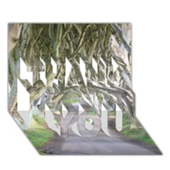 Dark Hedges, Ireland Thank You 3d Greeting Card (7x5)  by trendistuff