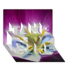 Purple Beauty Take Care 3d Greeting Card (7x5)  by timelessartoncanvas