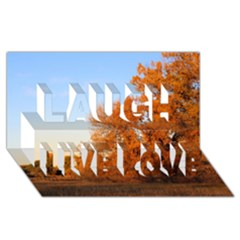 Beautiful Autumn Day Laugh Live Love 3d Greeting Card (8x4)  by trendistuff