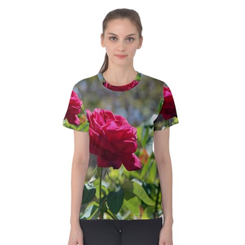 Red Rose 1 Women s Cotton Tee by trendistuff