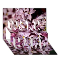 Purple Lilacs Work Hard 3d Greeting Card (7x5)  by trendistuff
