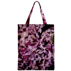 Purple Lilacs Zipper Classic Tote Bags by trendistuff