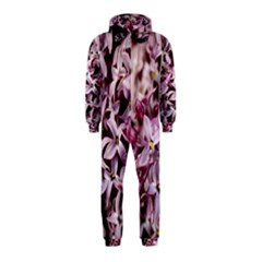 Purple Lilacs Hooded Jumpsuit (kids)