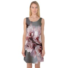 Plum Blossoms Sleeveless Satin Nightdresses by trendistuff
